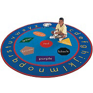 Paint-a-Round  Rug by Carpets for Kids