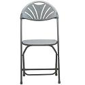 Fan Back Plastic Folding Chair by Scholar Craft