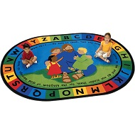 Click here for more Jesus Loves the Little Children ValuePlus Rug by Carpets for Kids by Worthington