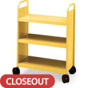 Click here for more 3 Flat Shelf Booktruck by Smith System by Worthington