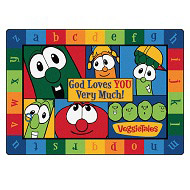 God Loves You Very Much VeggieTales Rug by Carpets for Kids