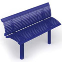 Richmond Steel Outdoor Bench with Back by UltraPlay