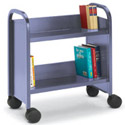 Booktruck with 2 Sloping Shelves