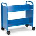 Booktruck with 4 Sloping Shelves by Smith System