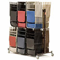 Double Tier Folding Chair Caddies by NPS