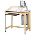 Split-Top School CAD Drawing Computer Table by Diversified Woodcrafts
