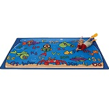 Alphabet Aquarium Carpet by Carpets for Kids