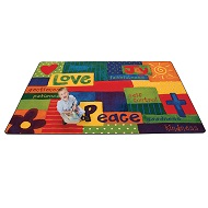 Spiritual Fruit Painted Rug by Carpets for Kids