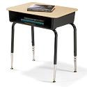 785M Solid Plastic Open Front Student Desks by Virco