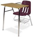 Colorful 9400BR Combo Student School Desk by Virco