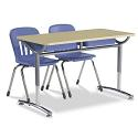 Text Double Open Front School Desk by Virco