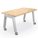 Click here for more Compass Makerspace Butcher Block Tables by Mooreco by Worthington