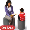 Click here for more Pouf Stool Ottoman by Balt by Worthington