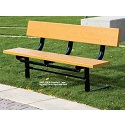 Traditional Park Bench with Back by UltraPlay