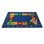 Bilingual Circletime Rug by Carpets for Kids