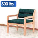 Click here for more Dakota Wave Bariatric Seating Standard Leg by Wooden Mallet by Worthington