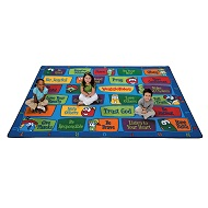 Veggie Values Seating Rug by Carpets for Kids