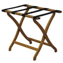 Deluxe Curved Leg Folding Luggage Rack by Wooden Mallet