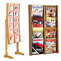 Oak and Acrylic Literature Displays by Wooden Mallet