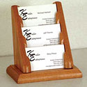 Oak Business Card Racks by Wooden Mallet