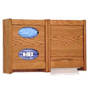 Oak Towel Dispenser and Glove Box Wall Cabinets by Wooden Mallet