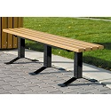 Bollard-Style Bench w/o Back by UltraPlay