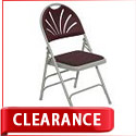 Click here for more Clearance- Padded Fan Back Folding Chair by NPS by Worthington