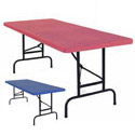 Click here for more Primary Color Adjustable Height Plastic Folding Tables by NPS by Worthington