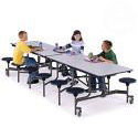 Click here for more Mobile Folding Stool Cafeteria Tables by Midwest by Worthington