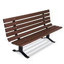 Single-Sided Park Bench with Back by UltraPlay