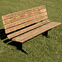 Click here for more Pressure Treated Wood & Steel Outdoor Bench by UltraPlay by Worthington