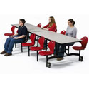 Rectangular Discover Chair Mobile School Cafeteria Tables by Midwest