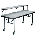 Mobile Folding Buffet Table by Midwest