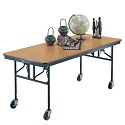 Click here for more Mobile Folding Utility Table by Midwest by Worthington