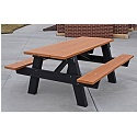 A Frame Outdoor Picnic Tables by Frog Furnishings