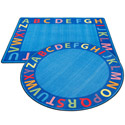 Click here for more A-Z Circle Time Seating Rug by ECR4Kids by Worthington
