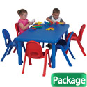 MyValue Set 6 Preschool Plastic Table & Chair Set by Angeles