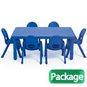 Click here for more MyValue Set 6 Preschool Table & Chair Set by Angeles by Worthington