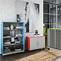 Click here for more Hutch Mobile Metal Storage System by Allied Plastics by Worthington