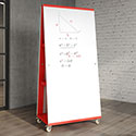 Click here for more ME Mobile Dry Erase 2-Sided Easel by Allied Plastics by Worthington
