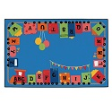Alpha Fun Train Value Rug by Carpets for Kids