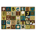 Alphabet Blocks - Nature's Colors KIDSoft Rugs by Carpets for Kids