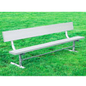 Aluminum & Steel Outdoor Bench w/ Back by UltraPlay