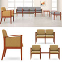 Amherst Panel Arm Series Reception Seating by Lesro