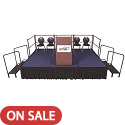 Dual Height Stage Sets w/ Carpet Surface by Amtab