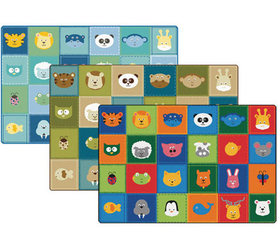 Animal Patchwork KIDSoft Rugs by Carpets for Kids