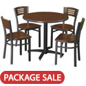 Click here for more Arched Base Cafe Table with Four 3315B Cafe Chairs by KFI by Worthington