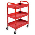 Click here for more Adjustable 3-Shelf Utility Cart by Luxor by Worthington
