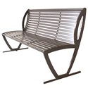 Augusta Outdoor Bench with Back by UltraPlay