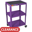 Click here for more Closeout Sale- Purple Adjustable Height Metal Carts by Luxor by Worthington